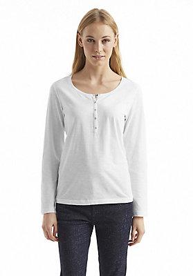 - Damen Knopfleisten-Shirt aus reiner Bio-Baumwolle