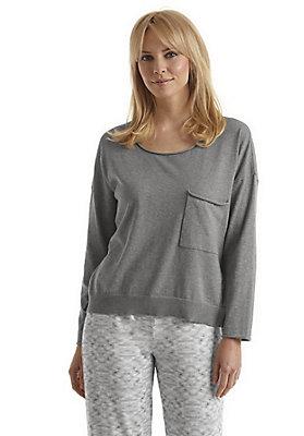 - Damen Langarm-Schlafshirt aus reiner Bio-Baumwolle