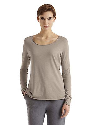 - Damen Langarm-Shirt aus Bio-Baumwolle mit Schurwolle