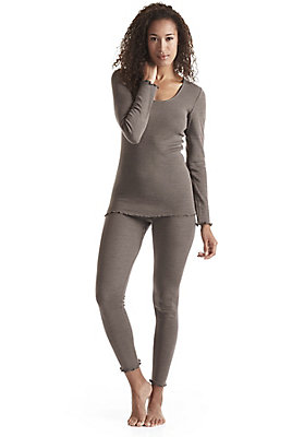 - Damen Leggings aus Bio-Merinowolle mit Seide