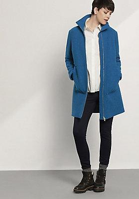 - Damen Mantel aus reiner Schurwolle