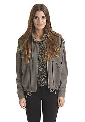 - Damen Oversize-Jacke aus reiner Bio-Baumwolle