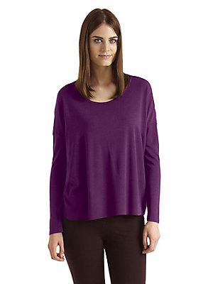 - Damen Oversize-Pullover aus Bio-Schurwolle mit Seide