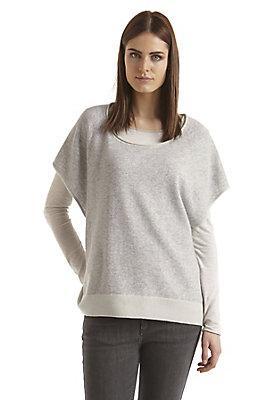 - Damen Oversize-Pullover aus Schurwolle mit Kaschmir