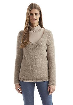 - Damen Pullover aus Alpaka-Mix