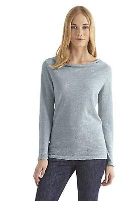 - Damen Pullover aus Alpaka mit Leinen