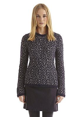 - Damen Pullover aus Alpaka mit Schurwolle und Leinen