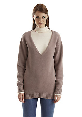 - Damen Pullover aus recycled cashmere