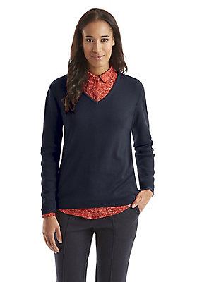 - Damen Pullover aus reiner Bio-Merinowolle