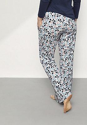 - Damen Pyjamahose aus reiner Bio-Baumwolle