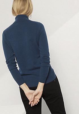 - Damen Rollkragen-Pullover aus Schurwolle mit Kaschmir