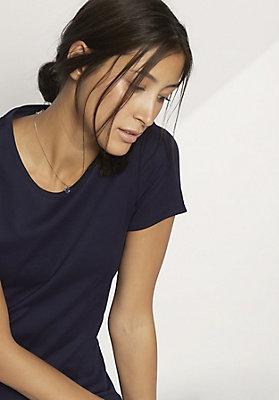 - Damen Rundhals-Shirt aus reiner Bio-Baumwolle