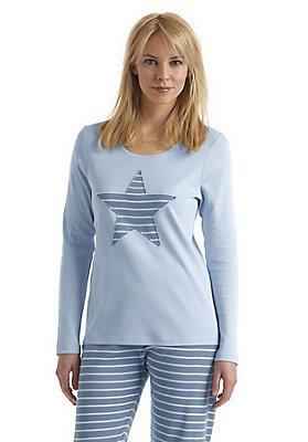 - Damen Schlaf-Shirt aus reiner Bio-Baumwolle