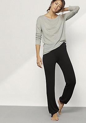 - Damen Shirt aus Bio-Baumwolle mit Schurwolle