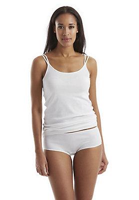 - Damen Spaghetti-Trägerhemd aus reiner Bio-Baumwolle
