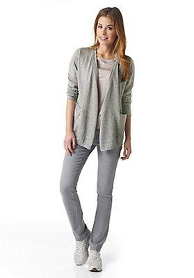 - Damen Strickjacke aus Alpaka mit Leinen