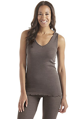 - Damen Trägerhemd aus Bio-Merinowolle mit Seide