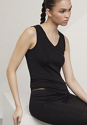 - Damen Trägershirt aus reiner Bio-Merinowolle