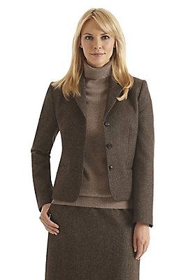 - Damen Tweedblazer aus reiner Schurwolle