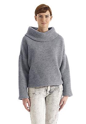 - Damen Wollfleece-Pullover aus reiner Schurwolle