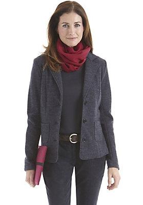 - Damen Wolljersey-Blazer aus reiner Schurwolle