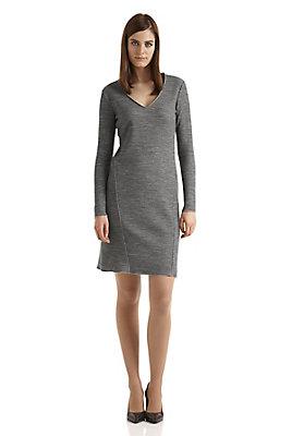 - Doubleface-Kleid aus Bio-Schurwolle und Bio-Baumwolle