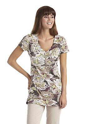 - Gemusterte Bluse aus reiner Bio-Baumwolle