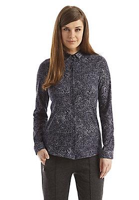- Gemusterte Jersey-Bluse aus reiner Bio-Baumwolle