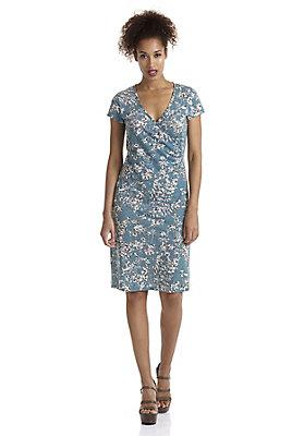 - Gemustertes Jersey-Kleid aus reiner Bio-Baumwolle