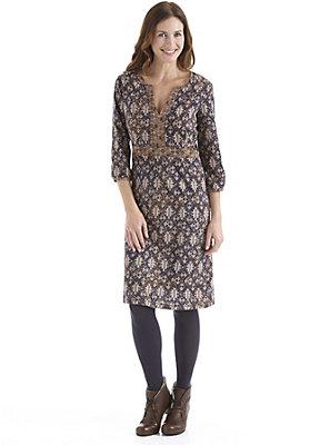 damen-neuheiten-herbst-kollektion-2014 - Gemustertes Kleid aus reiner Bio-Baumwolle