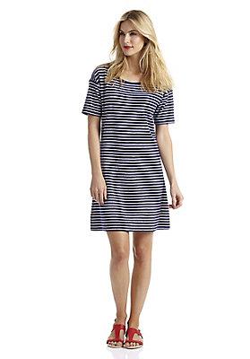 - Geringeltes Frottee-Kleid aus reiner Bio-Baumwolle