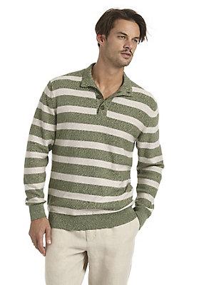 neu-herren-bekleidung - Gestreifter Pullover aus reiner Bio-Baumwolle