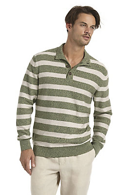 - Gestreifter Pullover mit knöpf