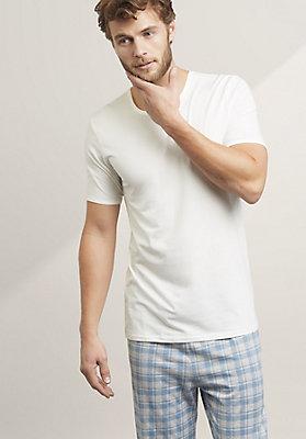- Halbarm-Hemd aus Bio-Baumwolle und Modal