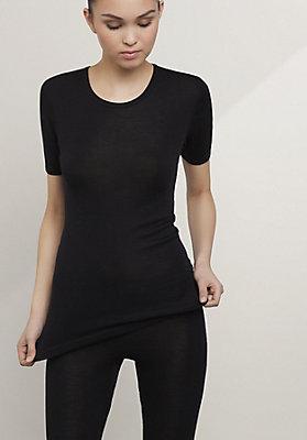 - Halbarm-Shirt PureMIX aus Bio-Merinowolle mit Seide