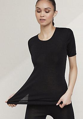 - Halbarm-Shirt aus reiner Bio-Merinowolle