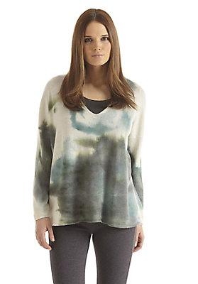 - Handbemalter Damen-Pullover aus Alpaka mit Schurwolle