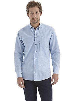 herrenkollektion-in-blau - Hemd comfort fit aus reiner Bio-Baumwolle