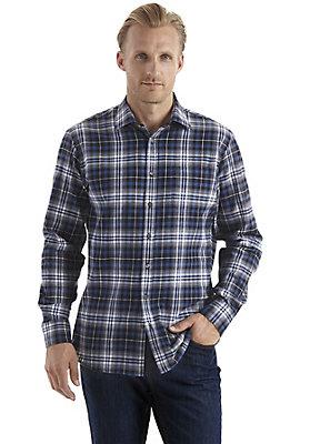 karo-und-jeans-fuer-herren - Hemd comfort fit aus reiner Bio-Baumwolle
