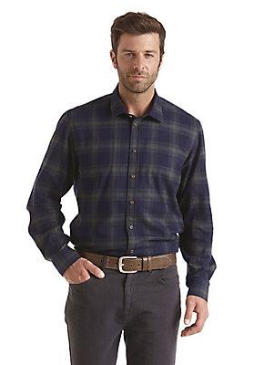 - Hemd kariert Modern Fit aus reiner Bio-Baumwolle