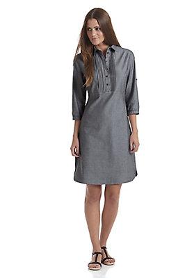 Kleider - Hemdblusen-Kleid aus reiner Bio-Baumwolle