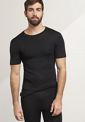 - Herren Halbarm-Shirt PureMIX aus Bio-Merinowolle mit Seide