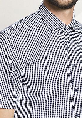 - Herren Kurzarm-Hemd Modern Fit aus reiner Bio-Baumwolle