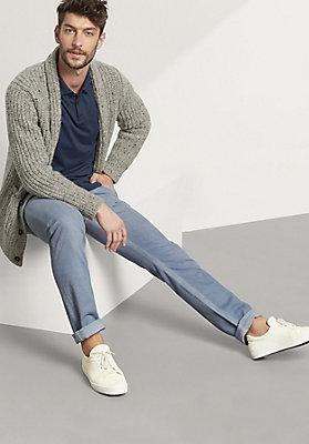 - Herren Langarm Poloshirt aus reiner Bio-Baumwolle