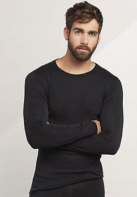 - Herren Langarm-Shirt PureMIX aus Bio-Merinowolle mit Seide