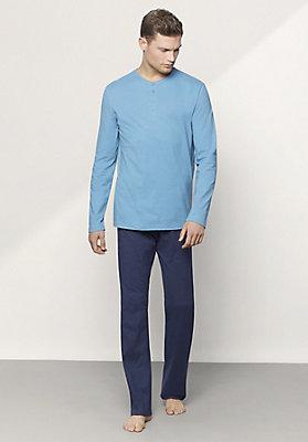- Herren Langer Pyjama aus reiner Bio-Baumwolle
