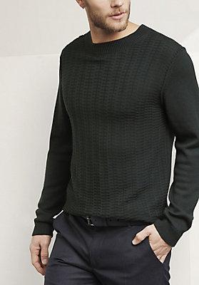 - Herren Pullover aus reiner Bio-Schurwolle