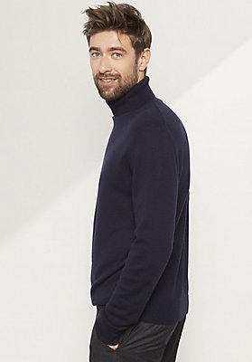 - Herren Rollkragen-Pullover aus reinem Kaschmir