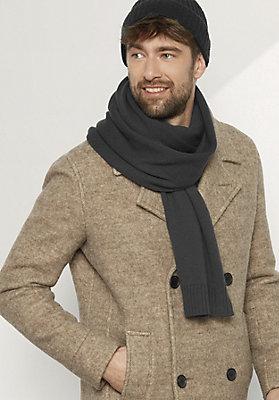 - Herren Schal aus reiner Merinowolle