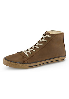 - Hoher Leder-Sneaker